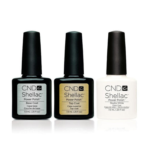 CND - Shellac Combo - Base, Top & Studio White