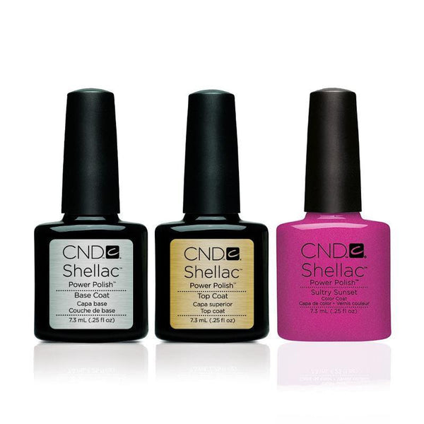 CND - Shellac Combo - Base, Top & Sultry Sunset