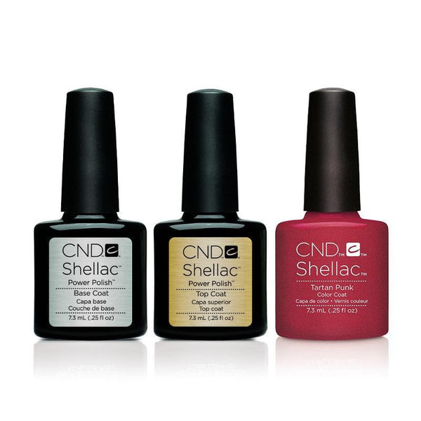 CND - Shellac Combo - Base, Top & Tartan Punk