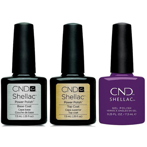 CND - Shellac Combo - Base, Top & Temptation