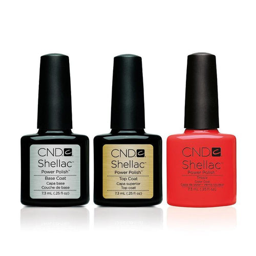 CND - Shellac Combo - Base, Top & Tropix
