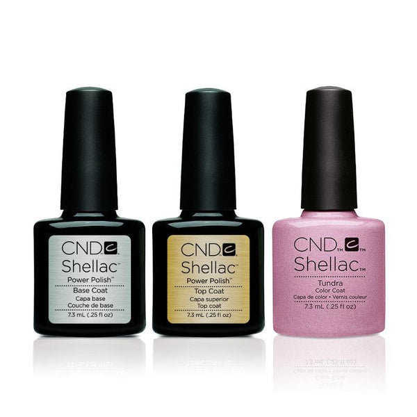 CND - Shellac Combo - Base, Top & Tundra