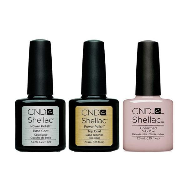 CND - Shellac Combo - Base, Top & Unearthed