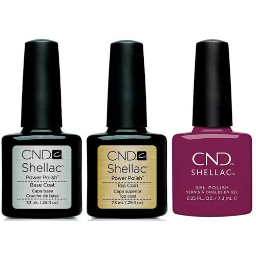 CND - Shellac Combo - Base, Top & Vivant