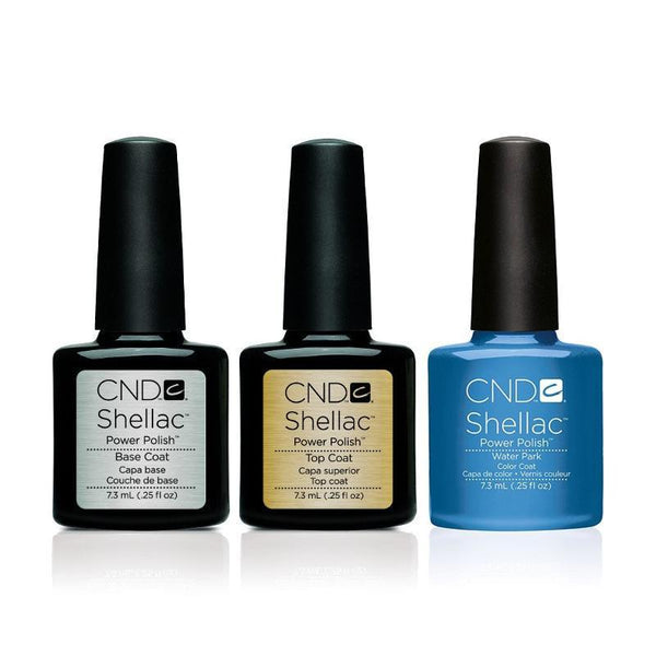 CND - Shellac Combo - Base, Top & Water Park