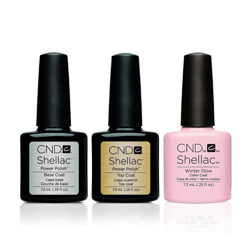 CND - Shellac Combo - Base, Top & Winter Glow