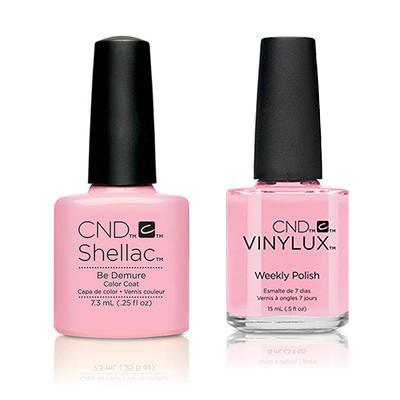 CND - Shellac & Vinylux Combo - Be Demure