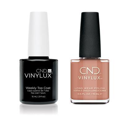CND - Vinylux Topcoat & Flowerbed Folly 0.5 oz - #346