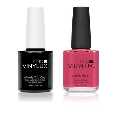 CND - Vinylux Topcoat & Irreverent Rose 0.5 oz - #207