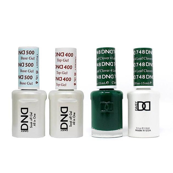 DND - Base, Top, Gel & Lacquer Combo - 4 Leaf Clover - #748