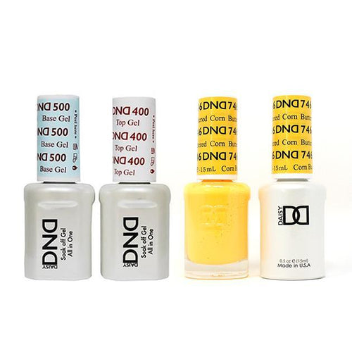 DND - Base, Top, Gel & Lacquer Combo - Buttered Corn - #746