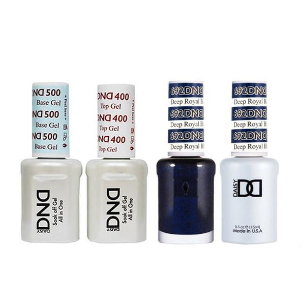DND - Base, Top, Gel & Lacquer Combo - Deep Royal Blue - #692