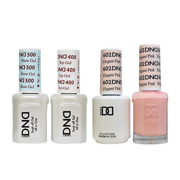 DND - Base, Top, Gel & Lacquer Combo - Elegant Pink - #602