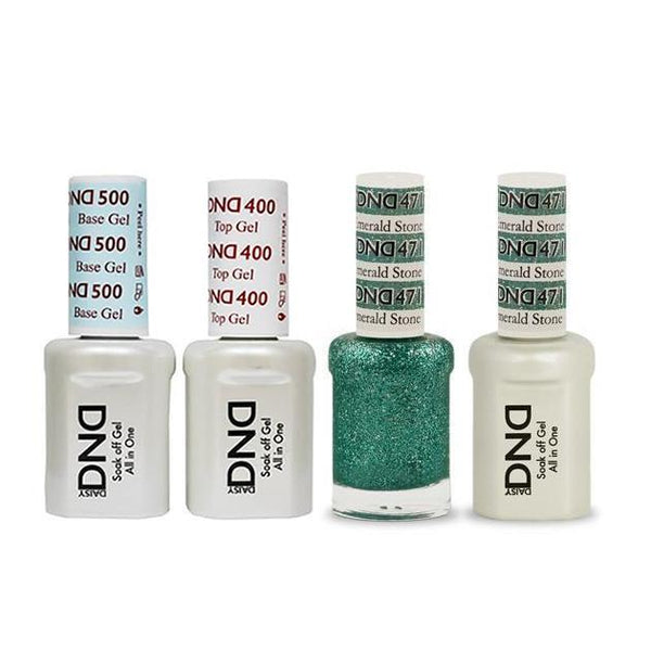 DND - Base, Top, Gel & Lacquer Combo - Emerald Stone - #471