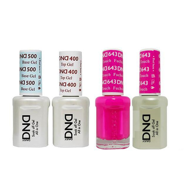 DND - Base, Top, Gel & Lacquer Combo - Fuchsia Touch - #643