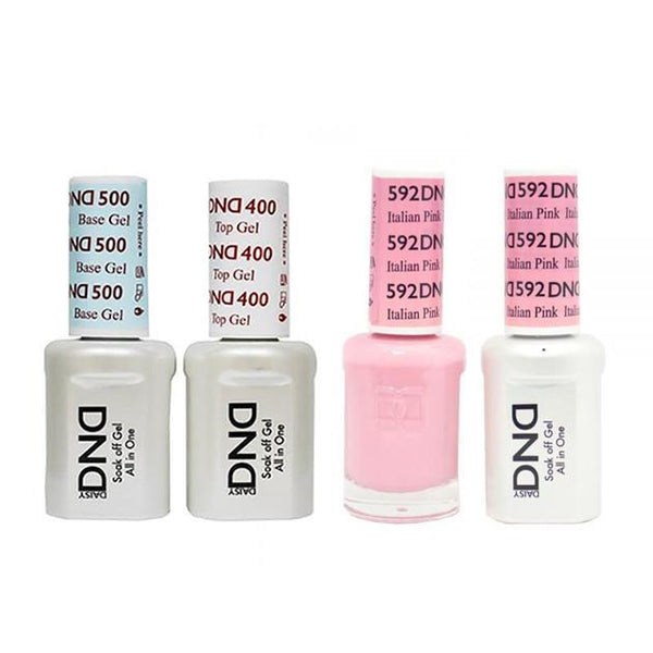 DND - Base, Top, Gel & Lacquer Combo - Italian Pink - #592