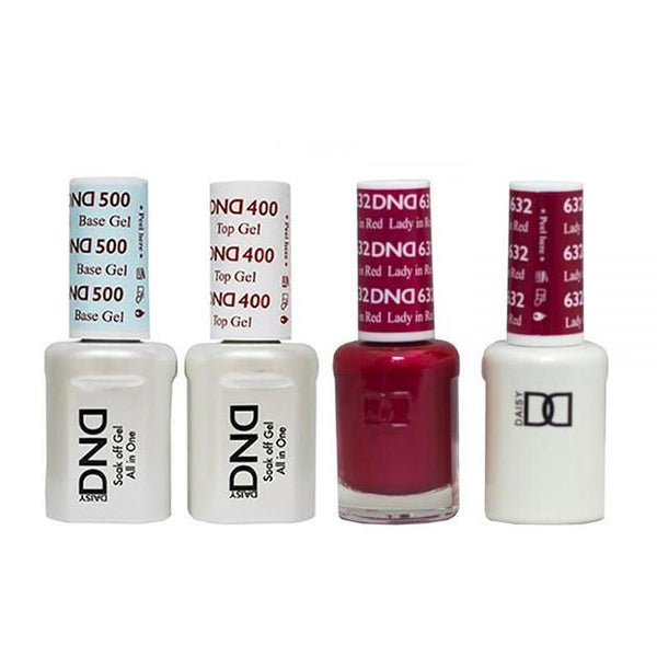 DND - Base, Top, Gel & Lacquer Combo - Lady In Red - #632