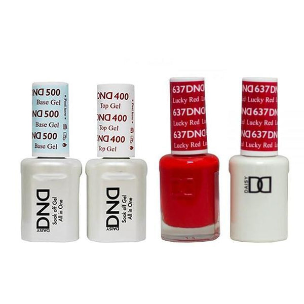 DND - Base, Top, Gel & Lacquer Combo - Lucky Red - #637