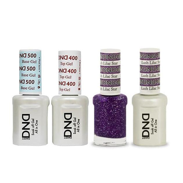 DND - Base, Top, Gel & Lacquer Combo - Lush Lilac Star - #405