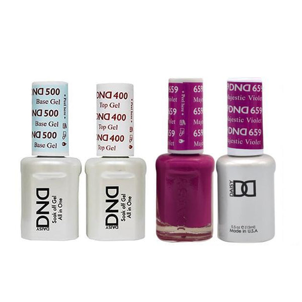 DND - Base, Top, Gel & Lacquer Combo - Majestic Violet - #659