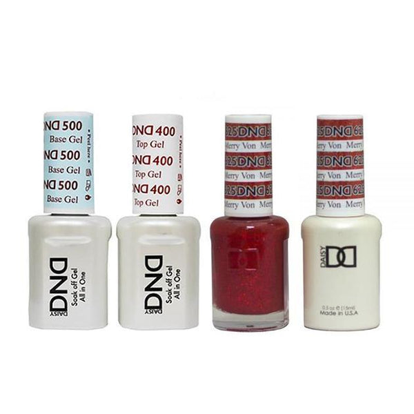 DND - Base, Top, Gel & Lacquer Combo - Merry Von - #625