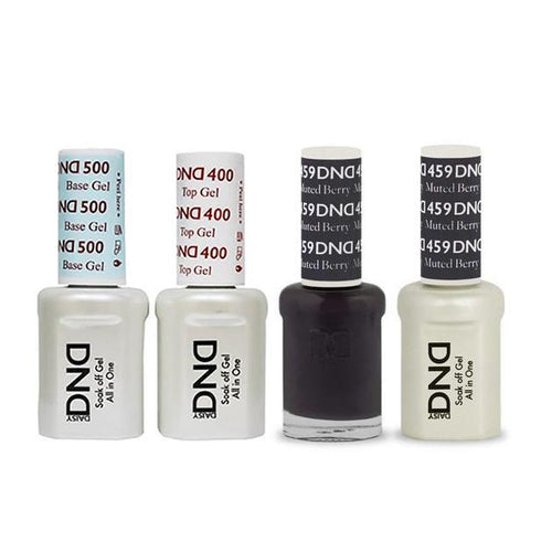 DND - Base, Top, Gel & Lacquer Combo - Muted Berry - #459