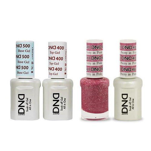 DND - Base, Top, Gel & Lacquer Combo - Pretty in Pink - #461