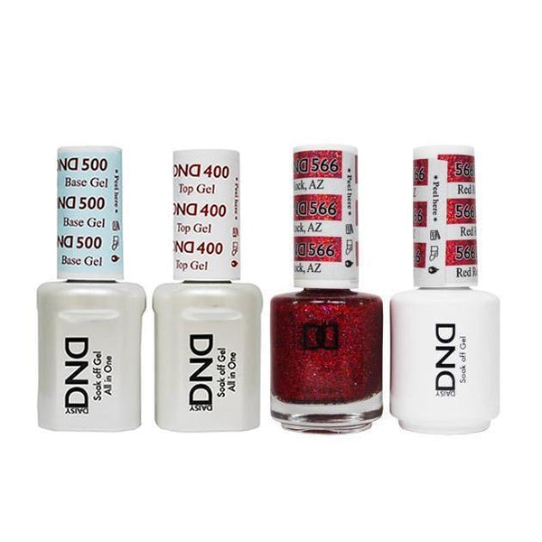 DND - Base, Top, Gel & Lacquer Combo - Red Rock AZ - #566