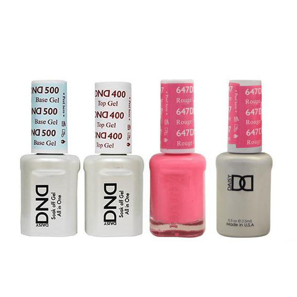 DND - Base, Top, Gel & Lacquer Combo - Rouge Couture - #647