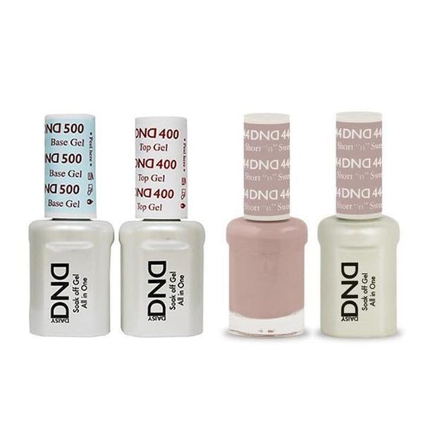 DND - Base, Top, Gel & Lacquer Combo - Short n Sweet - #444