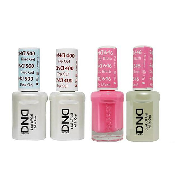 DND - Base, Top, Gel & Lacquer Combo - Shy Blush - #646