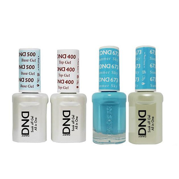 DND - Base, Top, Gel & Lacquer Combo - Summer Sky - #673