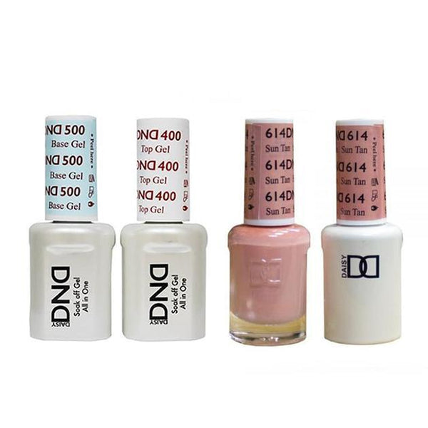 DND - Base, Top, Gel & Lacquer Combo - Sun Tan - #614