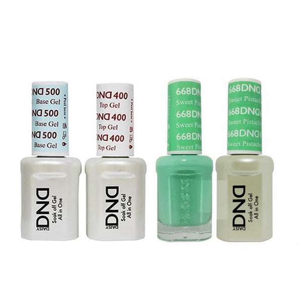 DND - Base, Top, Gel & Lacquer Combo - Sweet Pistachio - #668