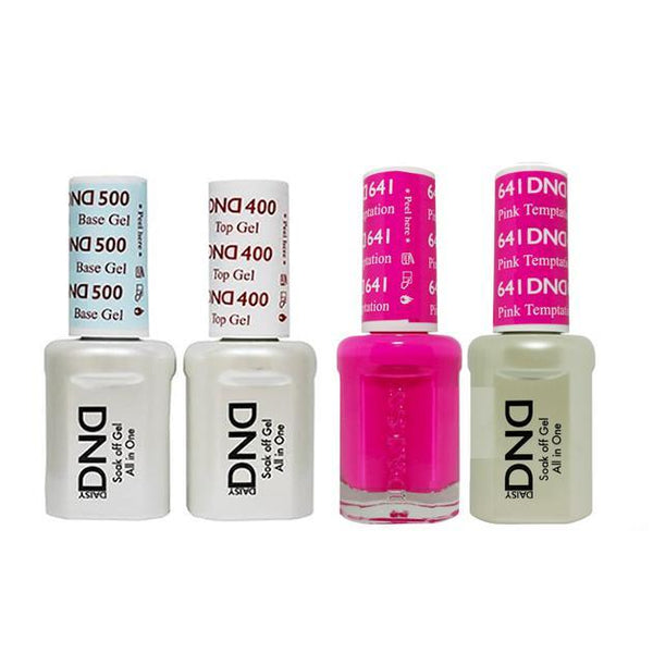 DND - Base, Top, Gel & Lacquer Combo - Temptation Pink - #641