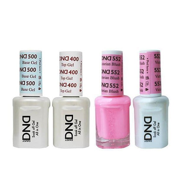 DND - Base, Top, Gel & Lacquer Combo - Victorian Blush - #552