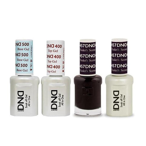 DND - Base, Top, Gel & Lacquer Combo - Violets Secret - #457
