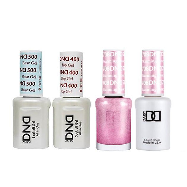 DND - Base, Top, Gel & Lacquer Combo - Warming Rose - #708