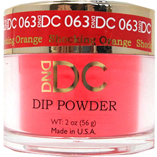 DND - DC Dip Powder - Shocking Orange 2 oz - #063