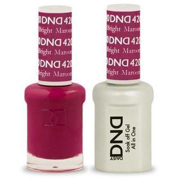 DND - Gel & Lacquer - Bright Maroon - #420