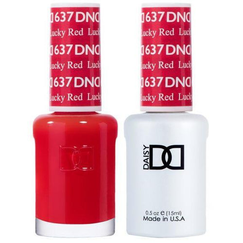 DND - Gel & Lacquer - Lucky Red - #637