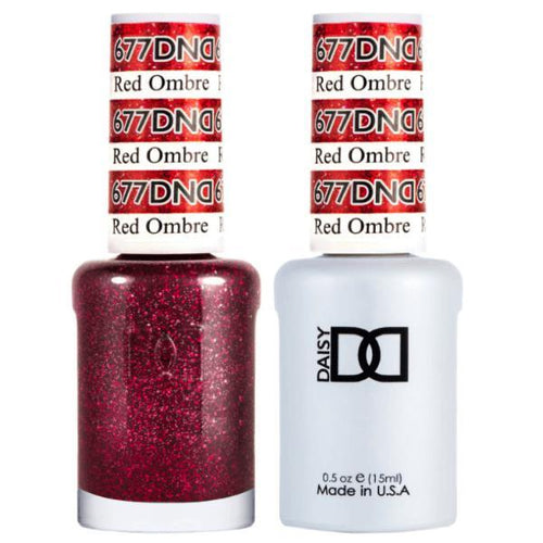 DND - Gel & Lacquer - Red Ombre - #677