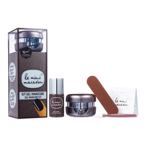 Le Mini Macaron Gel Manicure Kit - Chocolate Sparkle