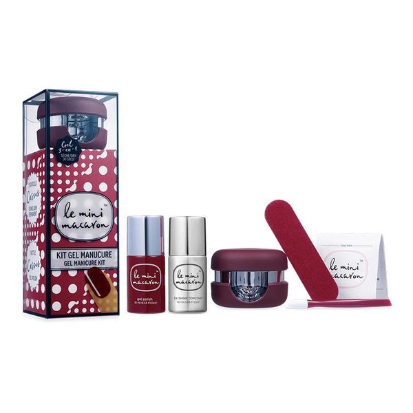 Le Mini Macaron Gel Manicure Kit & Top - Cassis