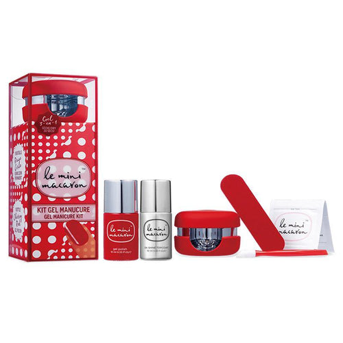 Le Mini Macaron Gel Manicure Kit & Top - Cherry Red