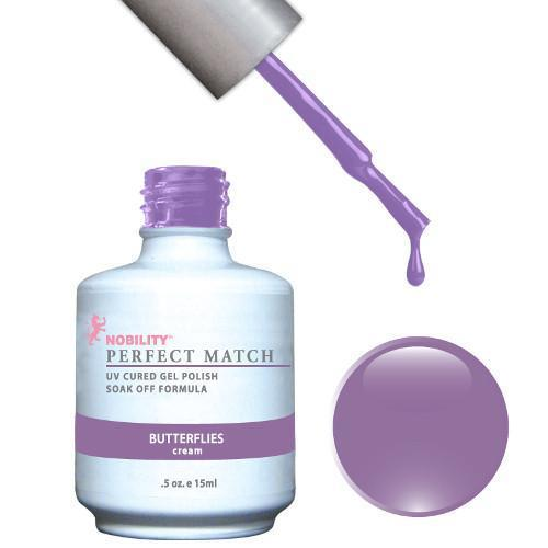 LeChat Perfect Match Gel / Lacquer Combo - Butterflies 0.5 oz - #PMS48