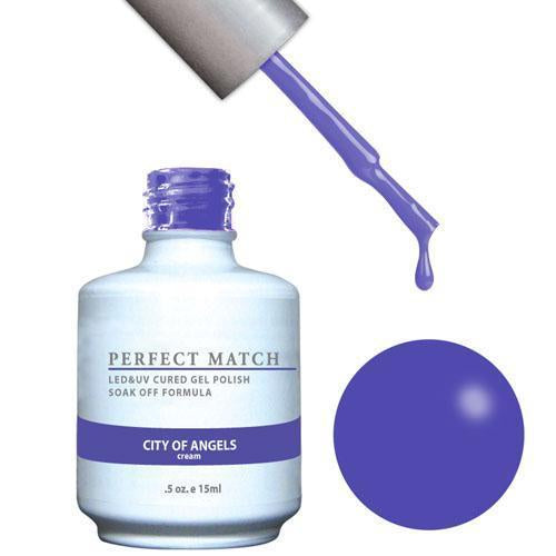 LeChat Perfect Match Gel / Lacquer Combo - City Of Angels 0.5 oz - #PMS141
