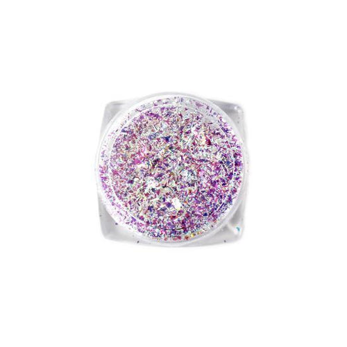 Nail Art Design - Glitter Flakes Iridescent Purple