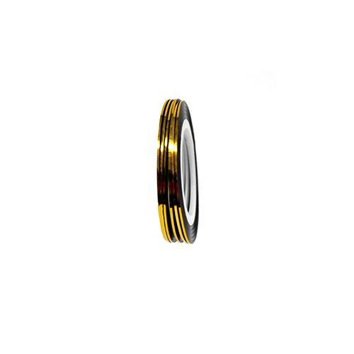Nail Sticker - Striping Tape Metallic Gold
