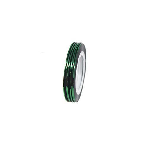 Nail Sticker - Striping Tape Metallic Green